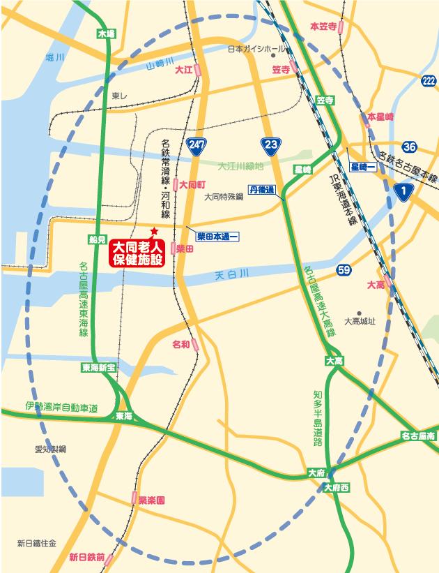送迎サービス対象地域:南区・緑区・東海市