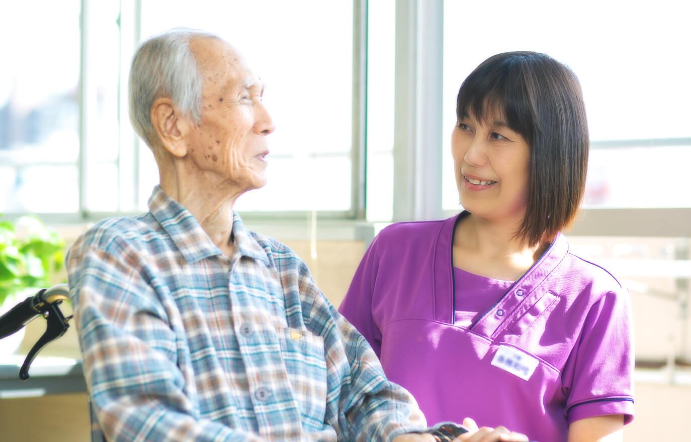 「ひとに、地域に、安心を。」大同老人保健施設|施設入所、ショートステイ、短時間通所リハビリ